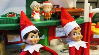 Elf on the Shelf Visits Santa and Mrs Claus Day 12