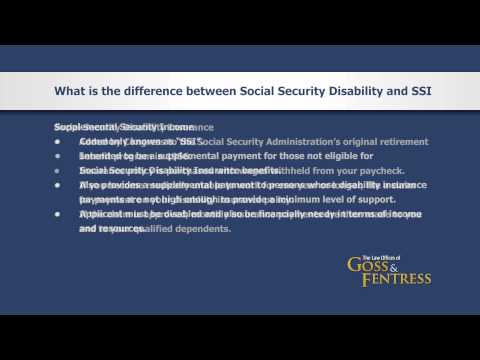 FAQ: Social Security Disability and SSI - The Law Offices of Goss