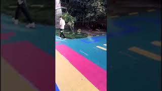 Environmental-friendly 100% pp plastic children playground mat