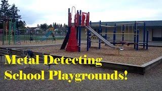 Metal Detecting School Playgrounds! (Garrett Ace 250)
