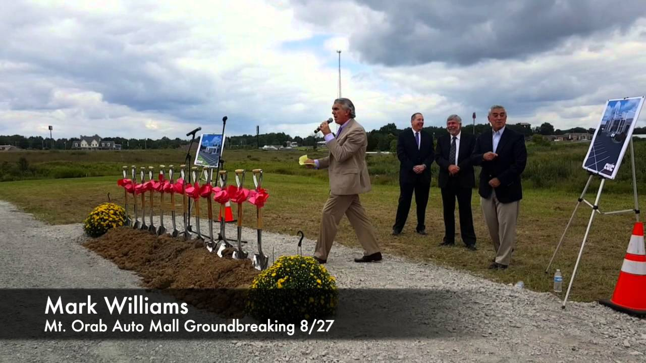 Mt Orab Auto Mall >> Mt Orab Auto Mall Groundbreaking August 2015 Youtube
