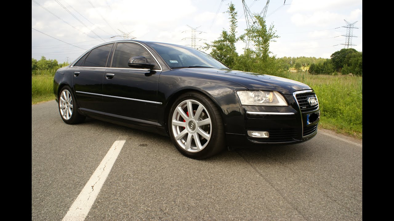 audi a8 d3 lift 3 0 tdi quattro 2008 233km black alu 20 s8 youtube. Black Bedroom Furniture Sets. Home Design Ideas