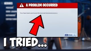 I Tried to get BANNED on Fortnite STW...