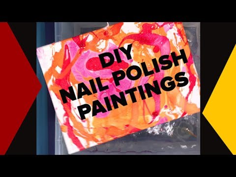 Super Easy DIY Nail Polish Paintings Make Fun, Quick Art In Minutes | Craft Videos