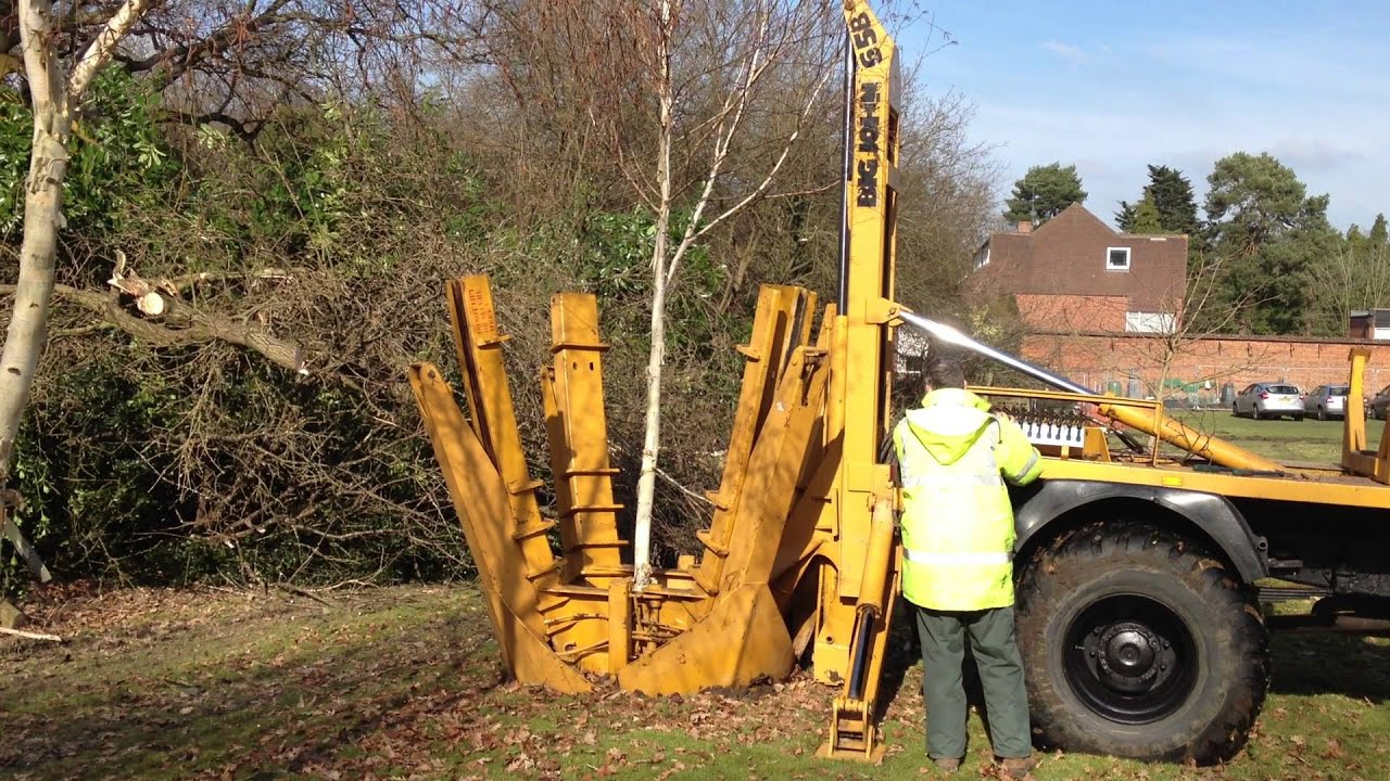Tree Spade Big John for moving trees | Practicality Brown