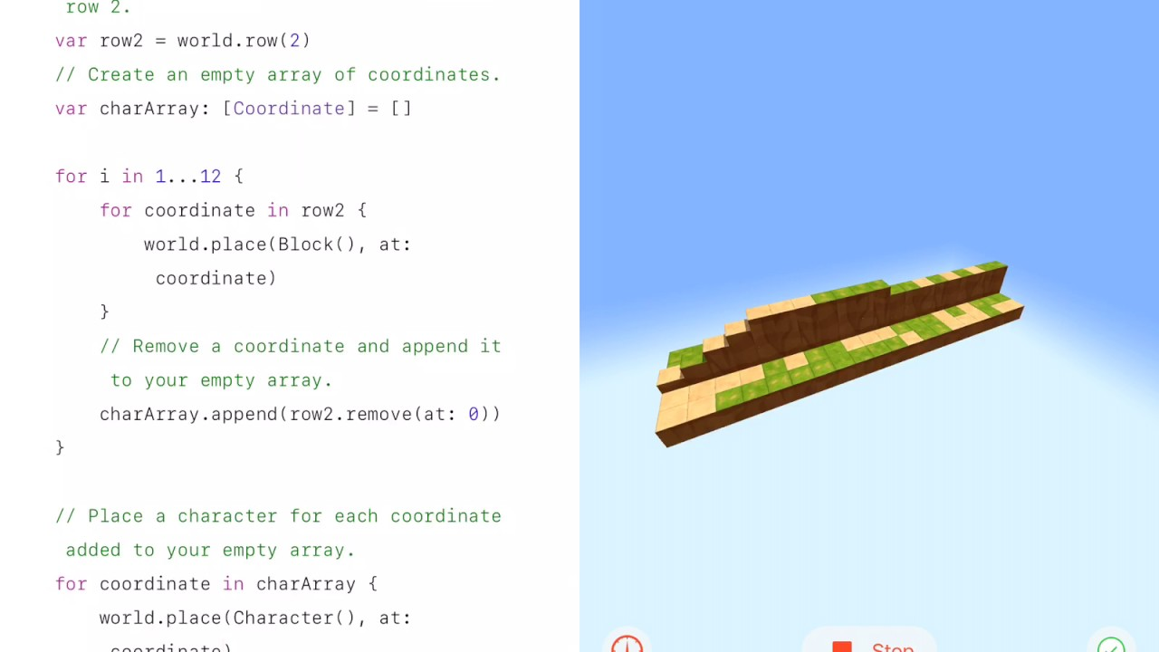Appending Removed Values - Swift Playgrounds