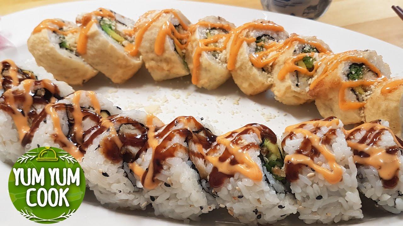 Deep Fried Chicken Sushi Roll Yumyumcook