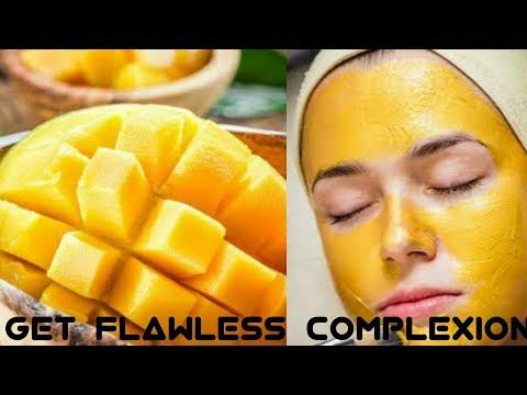 Get milky whiten skin by using homemade mango face mask  | DIY mango face mask |