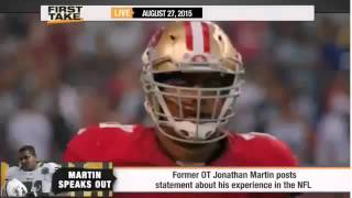 ESPN First Take   Jonathan Martin Speaks Out His E