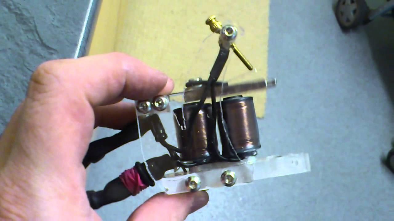 Homemade tattoo machine attempt 1 youtube for How to make a home made tattoo machine