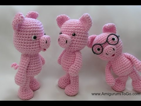 Crochet Little Bigfoot Pig - YouTube