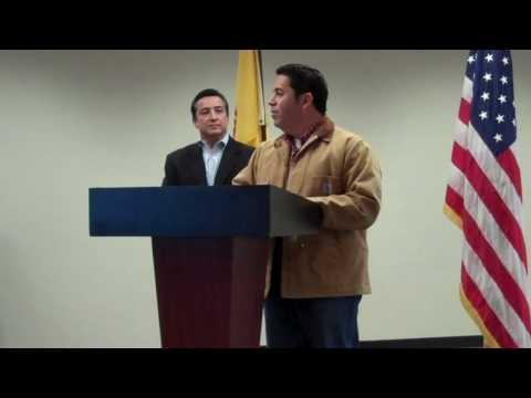 NM Congressman Ben Ray Lujan and Espanola Mayor Joseph Maestas