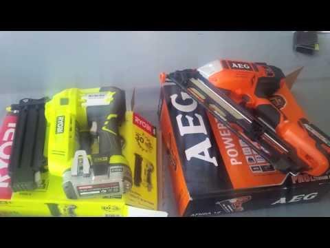 Ryobi 18v One+ Nail Gun   vs   AEG 18v nail gun