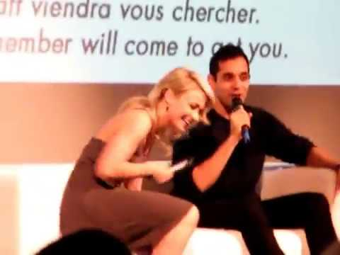 Chelsey Reist and Sachin Sahel playing Harper screaming at the Space Walkers convention 30042016