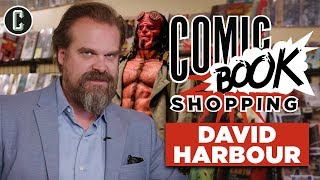 Hellboy Star David Harbour Goes Comic Book Shopping, Talks Black Widow and Stranger Things