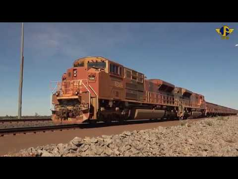 Iron ore trains of Australia's Pilbara