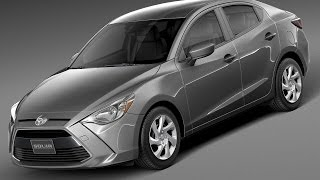 3D Model Toyota Yaris sedan 2016 at 3DExport.com
