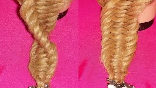 trenza pescado en espiral 3 strand spiral fishtail braid viriyuemoon