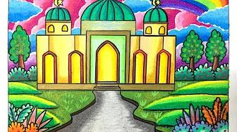 Lomba Mewarnai Mewarnai Gambar Masjid Nusagates