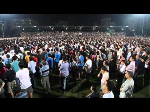 Massive turnout at Worker's Party Rally Low Thia Khiang Speech, Serangoon Stadium,29 April 2011