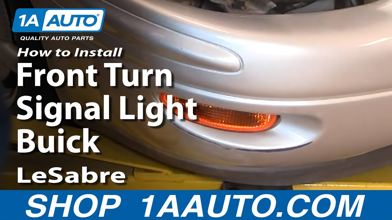 How To Install Replace Front Turn Signal Light Buick
