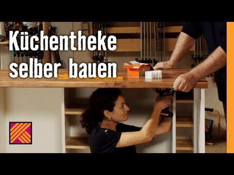 Kchentheke selber bauen  HORNBACH Mbelbau  YouTube