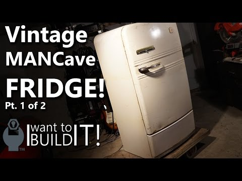 Mancave 1950s Beer Fridge Restoration! 1 of 2