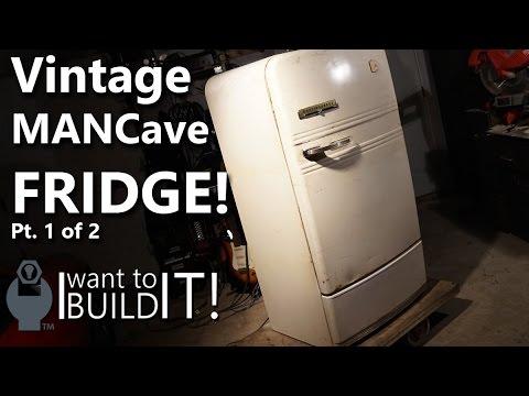 Mancave 1950s Beer Fridge Restoration! 1 of 2