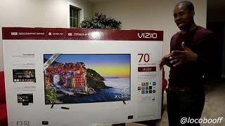 Vizio 4K HDR E70 E3 70 Inch TV Unboxing & Setup