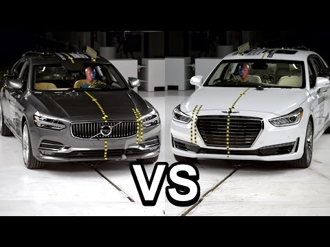 2017 Genesis G90 VS 2017 Volvo S90 Crash Test