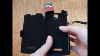 Кожаный чехол книжка Valenta для телефона Lenovo A1000(, 2015-11-20T10:36:33.000Z)
