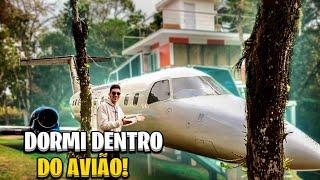 AVIÃO DE VERDADE QUE VIROU HOTEL NO BRASIL!