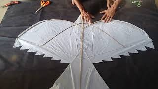 How To Make Bird Kites Cara Membuat Layangan Burung Youtube