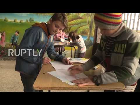 Syria: Children learn about Russian culture at Aleppo school