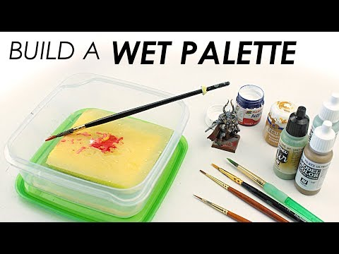 The Tool Every Brush Painter Needs - How to make a Wet Palette