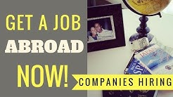 Working Abroad - Top Five Companies Always Hiring