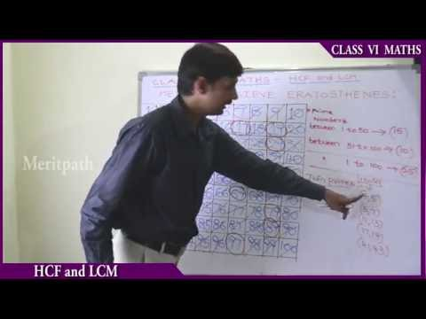 class 6 VI Maths HCF and LCM  Sieve Eratosthenes part 2
