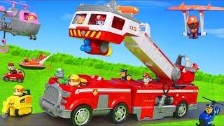 Pat' Patrouille français Mission de sauvetage de pompier de Marcus, Chase, Ryder & Ruben