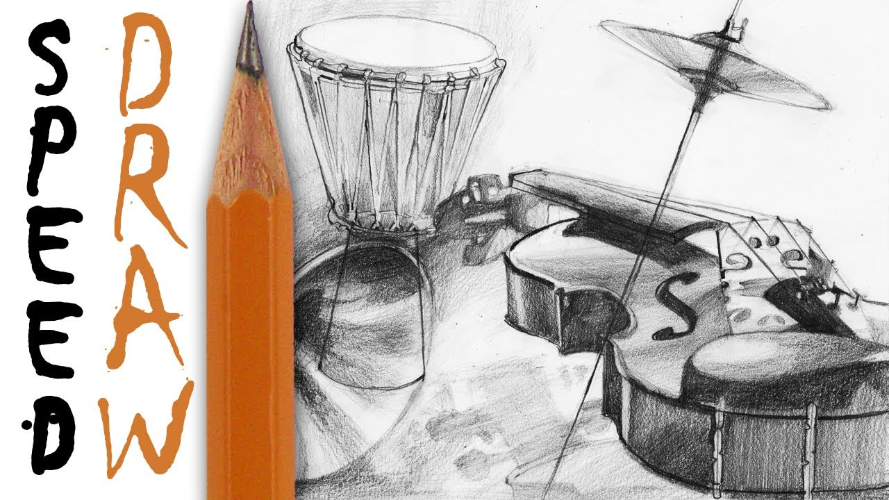 How to draw instruments jak rysować instrumenty speed drawing tutorial 7 youtube