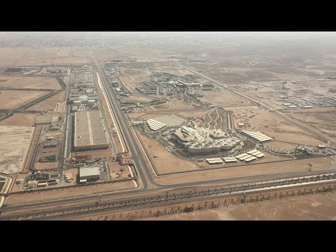 Landing at King Khaled International Airport Riyadh (RUH)