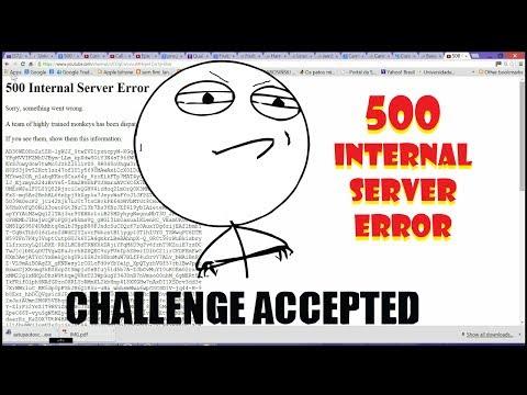Como Resolver O Erro 500 Internal Server Error (Youtube Error)