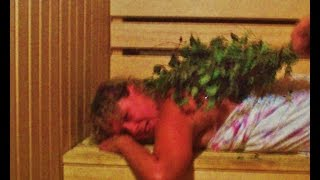 Russian Sauna massage (po-russki) with venik.