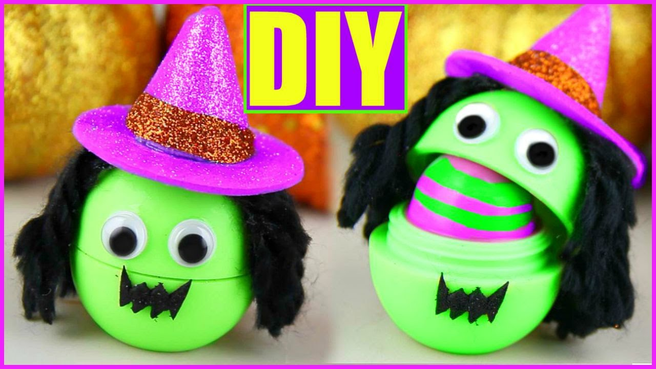 diy witch eos make cute halloween lip balms halloween party favors youtube