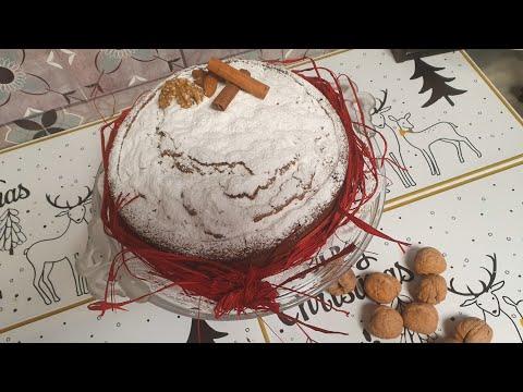 cake-d'hiver-👌😍😍🎅🎄كيكة-لذيذة-و-رائعة-للضيوف-بالجوز-واللوز-😍👌🥰😋😋