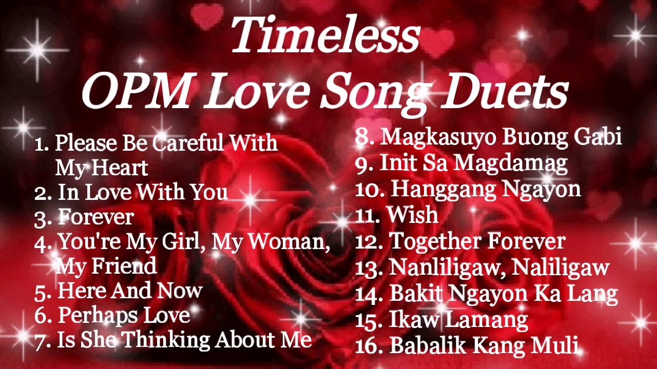 Timeless Opm Love Song Duets Compilation Princess Erica Vlogs And Music Youtube