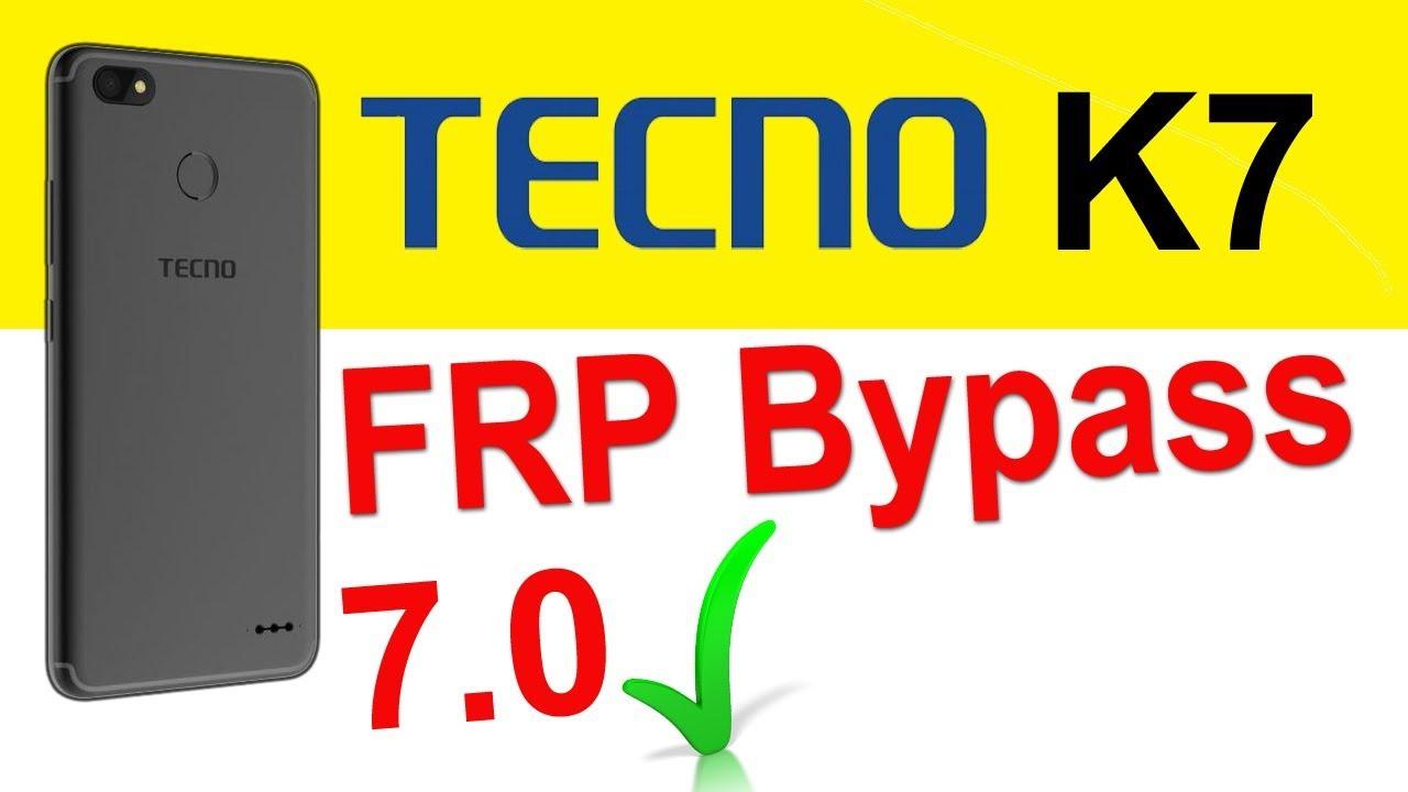 Tecno K7 frp bypass | How to reset Tecno K7 google account | Tecno k7 frp  7 0