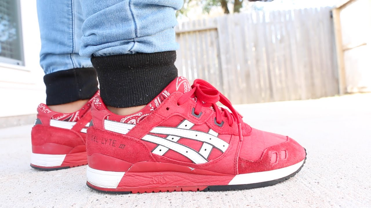 asics gel lyte 3 red bandana