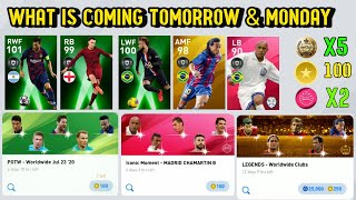 WHAT IS COMING TOMORROW & MONDAY NEW POTS, LEGEND GP, NEW ICONIC & FREE REWARDS| PES 20 MOBILE