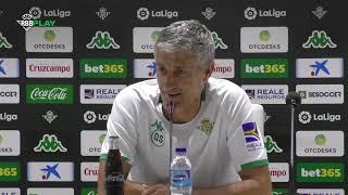 Rueda de prensa de Quique Setién previa al partido contra el Athletic Club