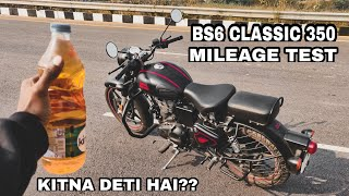 BS6 Royal Enfield Classic 350 Mileage Test || Actual Me Kitna Deti hai??